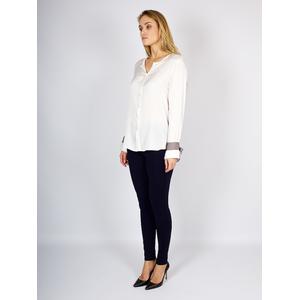 Блуза с завязками на манжетах от REPEAT _ R600165
