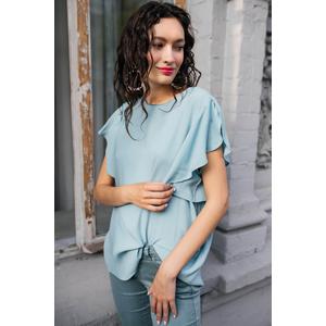 Блуза с воланами от REPEAT _  R600225