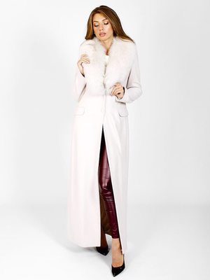Шерстяное длинное пальто от LES BOURDELLES DES GARÇONS _ N791002