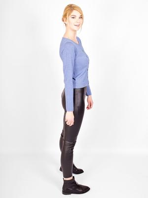 Пуловер на пуговицах с люрексом от KONTATTO _ K004249
