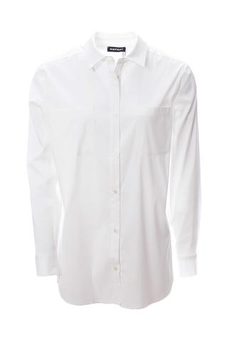 Белая котоновая рубашка от REPEAT _  R600170