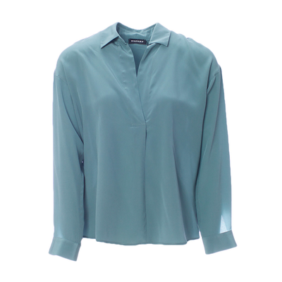 Шелковая блуза с воротником от REPEAT _ R600014