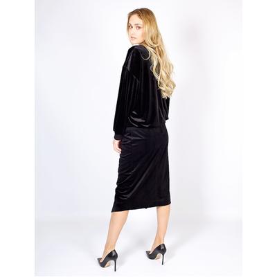 Бархатная черная юбка с запахом от UNQ _  U482376